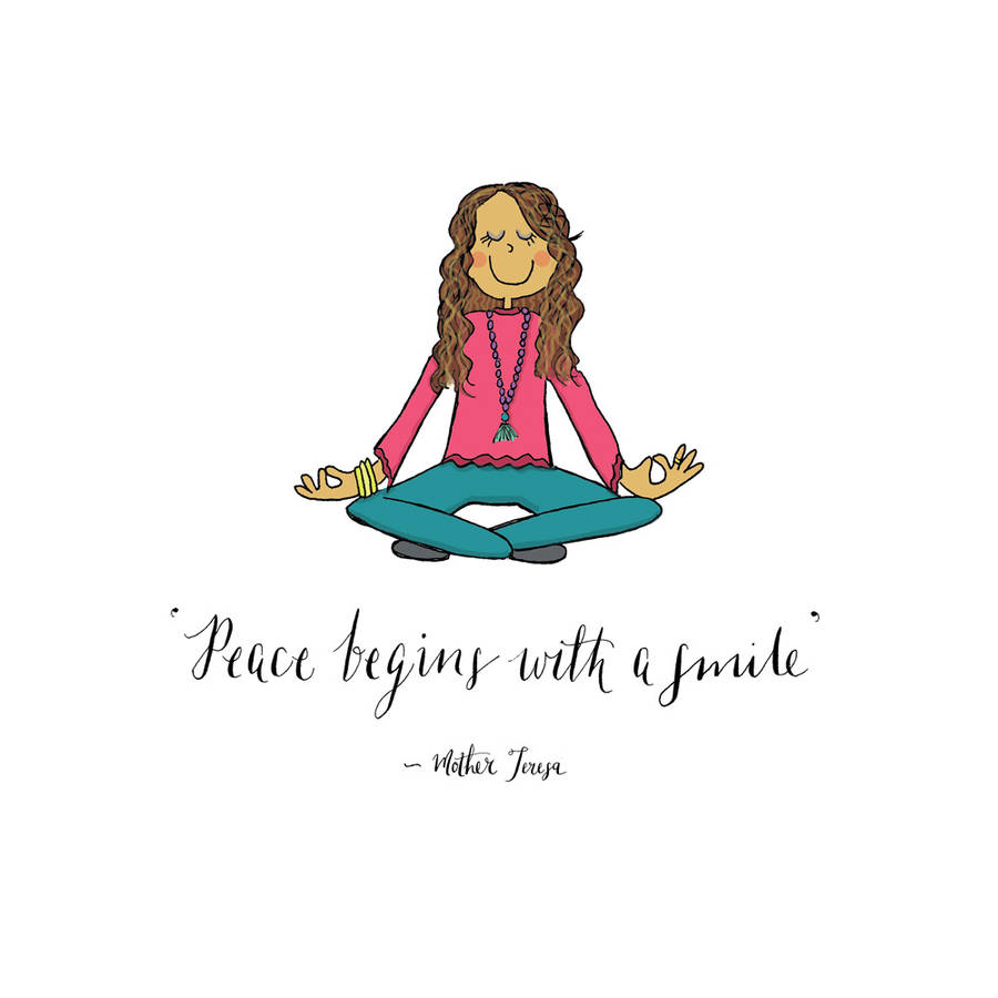 Quotes Yoga Yoga Poster With Mother Teresa Quote On Peaceindieberries