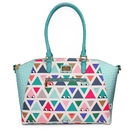 Don't Be Square Triangle Print Oversized Handbag