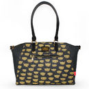 Illustrated Leopard Print Oversized Handbag
