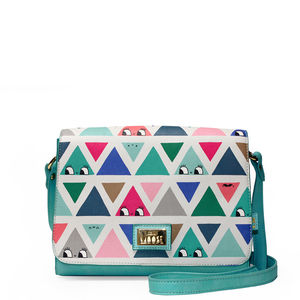 'Don't Be Square' Triangle Patterned Handbag - bags