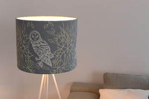 Owls Lampshade - bedroom