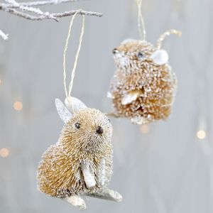 Silver Bristle Mouse Or Rabbit Hanging Decoration - whatsnew