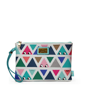 'Don't Be Square' Triangle Patterned Clutch Bag - clutch bags