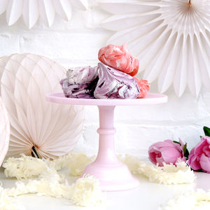 Luxury Heavy Weight Milk Glass Cake Stand - cake stands