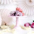 Luxury Heavyweight Milk Glass Cake Stand