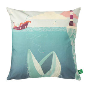 The Fear Of Drowning Cushion Cover - patterned cushions