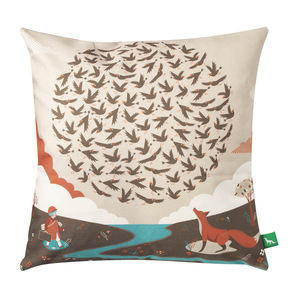 100 Starlings Rising Cushion Cover - cushions