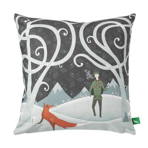 The Fox And The Lost Soldier Cushion Cover - children's room