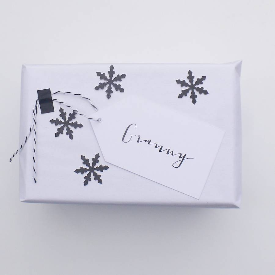 personalised name gift tag by daisyley designs