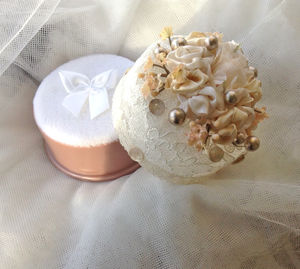 Champagne Roses Dusting Powder Gift - wedding fashion