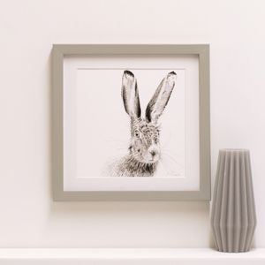 Hare Fine Art Giclée Print 'The Runners Seven'