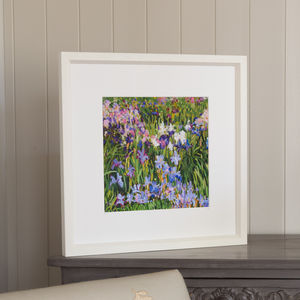 Field Of Irises, Framed Print - nature & landscape