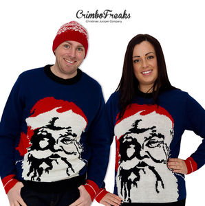 Novelty Santa Reindeer Xmas Jumper 30% Off - christmas clothing & accessories