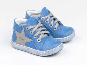 Leather Trainers With Star Design