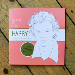 Harry Styles Colouring Book By Colour Me Good