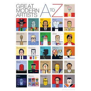 Great Modern Artists A To Z Poster - posters & prints