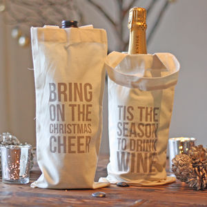 Christmas Wine Bottle Gift Bag - wrapping