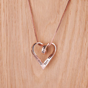 Best Friends Rose Gold Message Necklace