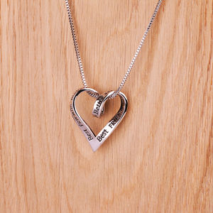 Best Friends Silver Message Necklace