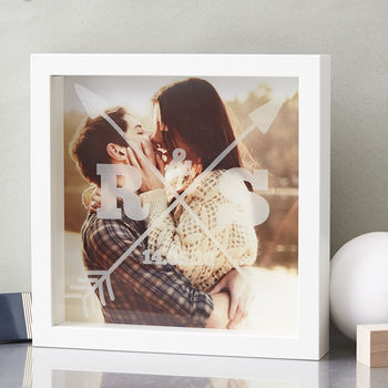 Personalised Couples Etched Framed Print