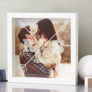 Personalised Couples Etched Framed Print - engagement gifts
