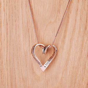 Daughter Rose Gold Plated Message Necklace - necklaces & pendants