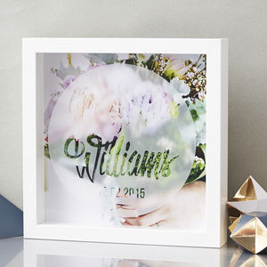 Personalised Wedding Etched Framed Print - home accessories