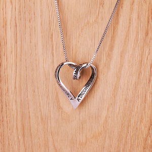 Daughter Silver Plated Message Necklace - necklaces & pendants