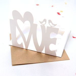 Love Laser Cut Pop Up Card - view all sale items