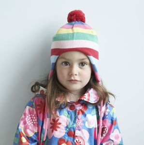 Stripy Knitted Girl's Hat