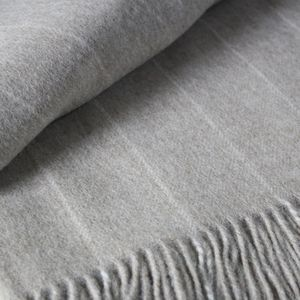 Pinstripe Merino Lambswool Throw - throws, blankets & fabric