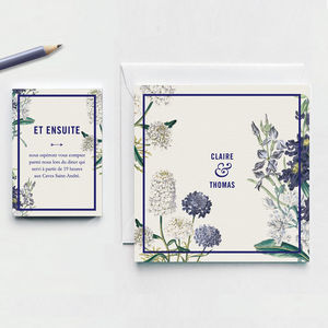 Botanical Garden Wedding Invitation - save the date cards