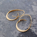 Tapered Gold Curl Hoops