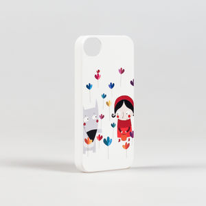 Wolf And Girl iPhone Case