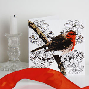 Ten Robin Christmas Cards - christmas card packs