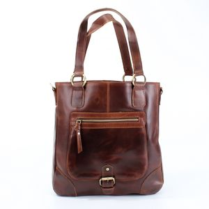 Leather Pocket Shopper - bags & purses