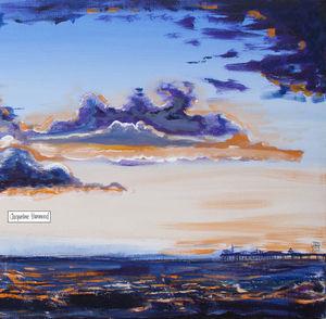 Original Sunset Seascape Painting