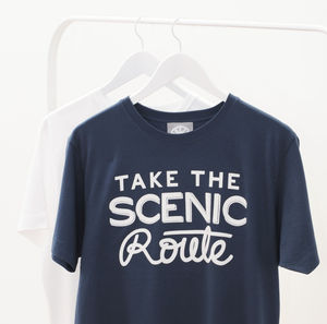 'Take The Scenic Route' Men's T Shirt - men's fashion