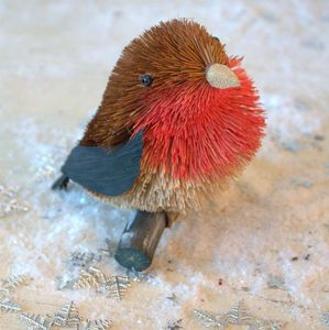 Brush Robin Or Scottie Dog Christmas Decoration