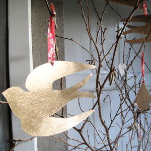 Golden Swallow Decoration - decorative accessories