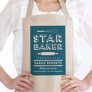 Star Baker Personalised Apron - kitchen linen
