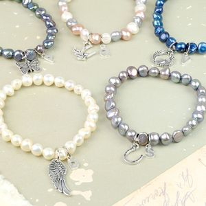 Charmed Pearl Bracelet With Initial - women's jewellery
