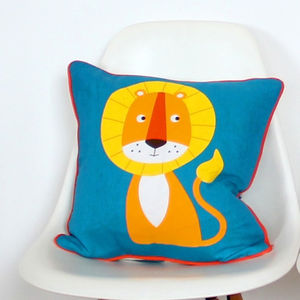 Lion Cushion - patterned cushions