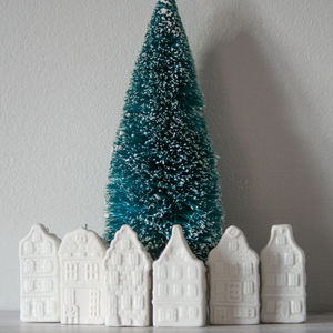 Canal House Ornaments, Set Of Six - christmas sale