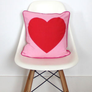 Heart Cushion - bedroom