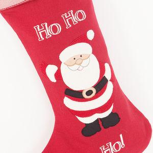 Ho Ho Ho Personalised Christmas Stocking - stockings & sacks