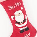 Close up of applique Father Christmas