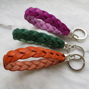 Plaited Leather Keyring