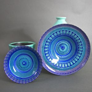 Zenza Blue Splash Bowl - tableware