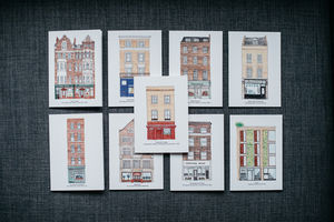 Bookshops Of London Greeting Card Set